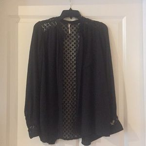 New Free People black blouse - beautiful
